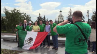 Mexicanos siguen al Tri hasta Kazán