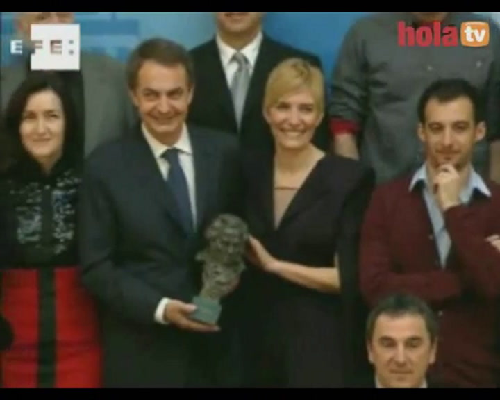 José Luis Rodríguez Zapatero recibe a los galardonados de los Goya en La Moncloa
