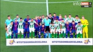 Atentado en Barcelona: el conmovedor minuto de silencio en el Camp Nou