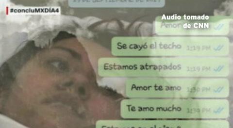 Sus mensajes de WhatAapp permitió que la encontraran bajo los escombros