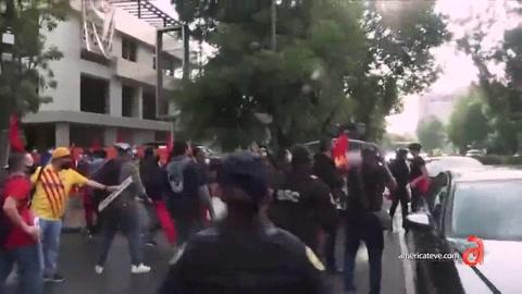 Turbas castristas se movilizan en México y golpean a cubanos y mexicanos  que protestaban contra la visita de Díaz-Canel