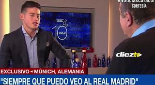 James solo mantiene relación con 3 jugadores del Madrid