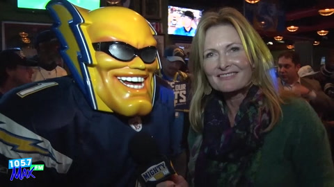 Charger fans rally with Bolt Pride at the Tilted Kilt