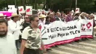 Miles marchan en rechazo a renegociación del TLCAN