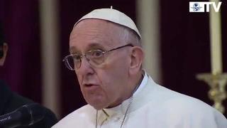 Francisco habla ante obispos sobre narcotráfico y migración