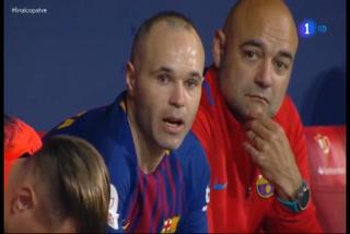 Las lágrimas de Andrés Iniesta en la final de la Copa delRey