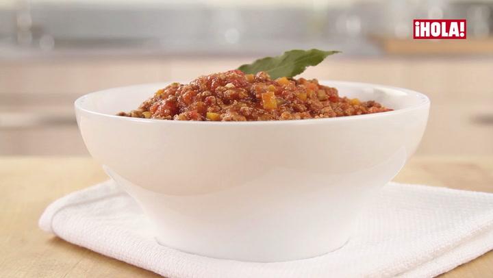 Vídeo-receta: salsa bolognesa