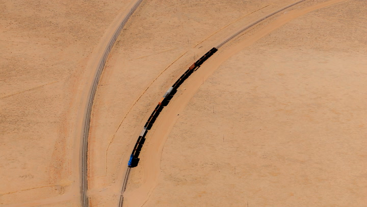 Vincent Laforet's Aerial Shots Of Trains Look Like Abstract Art