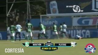 Marathón derrotó 3-0 al Platense en la  estadio Yankel Rosenthal