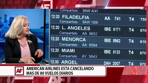 American Airlines está cancelando más de 80 vuelos diarios porque no tienen suficientes trabajadores