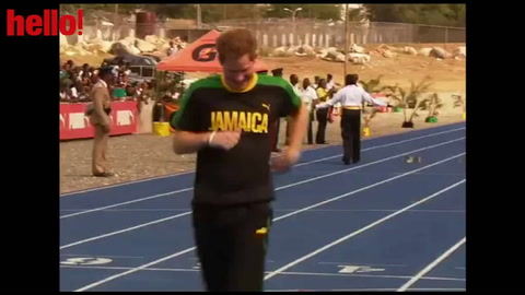 Prince Harry\'s sprint race with Usain Bolt