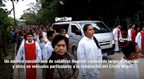 Centenares de Católicos celebran al Cristo Negro en El Progreso