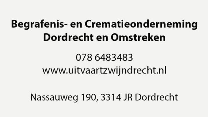 Begrafenis- en Crematieonderneming Dordrecht en Omstreken - Bedrijfsvideo