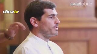 La curiosa reacción de Iker Casillas al ser sorprendido por el imitador de Lionel Messi