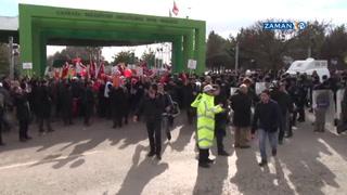 AYM önünde 'dershane' açıklamasına polis engeli