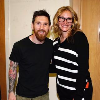 Lionel Messi ganó el clásico y conoció a su actriz favorita en el Bernabéu