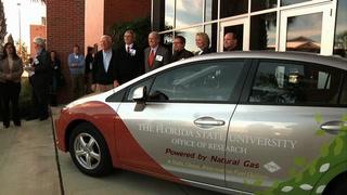 FSU unveils its first CNG car