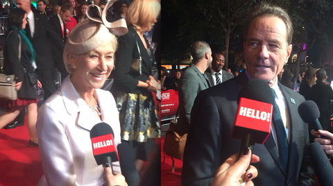 Trumbo: Bryan Cranston and Helen Mirren talk to HELLO! at the London Film Festival