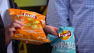 Pat and Stu enjoy taste testing the new Lay's Poppables