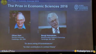 Dan Nobel de Economía 2016 a Oliver Hart y Bengt Holmström
