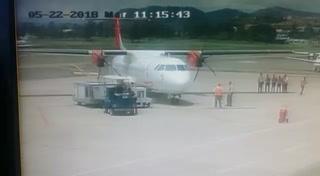 Avión aterriza en aeropuerto Toncontín