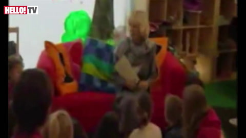 Camilla reads for children at Hay Festival