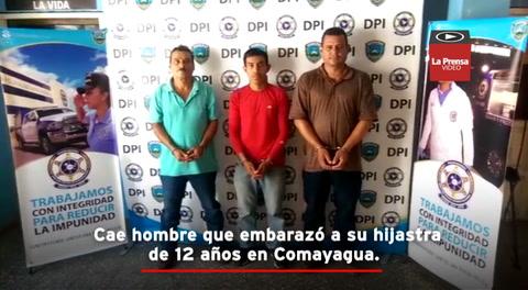 Cae hombre que embarazó a su hijastra de 12 años en Comayagua
