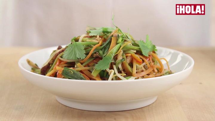Vídeo-recetas en un minuto: 'Wok' de verduras