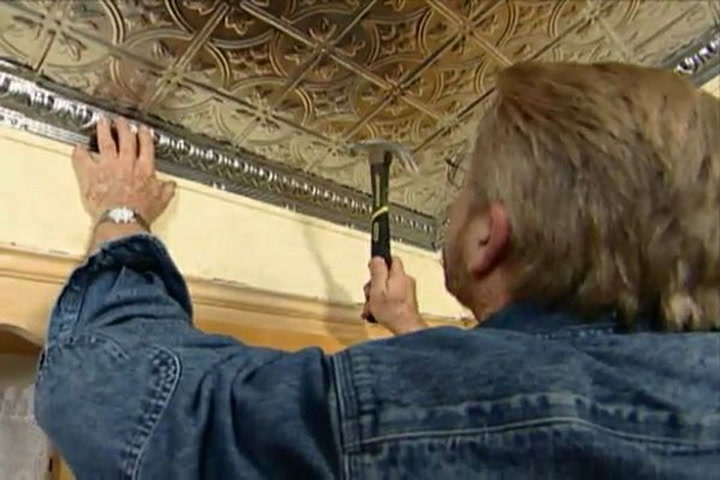 How to Put up a Ceiling Made of Stamped Metal