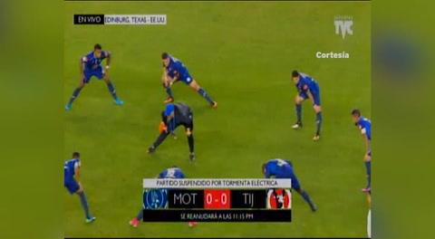 Se reanuda el partido entre Motagua - Xolos (Liga Concacaf 2018)