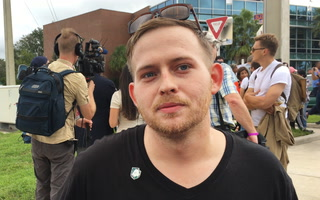 Neo-Nazi Protester Explains Fear Over Extinction of White Race At Richard Spencer Speech in Gainesville, Fla.