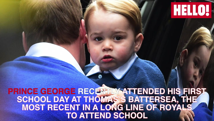 Royal children begin their first days at school