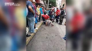 Taxista frustra huida de supuesto asaltante en la capital de Honduras