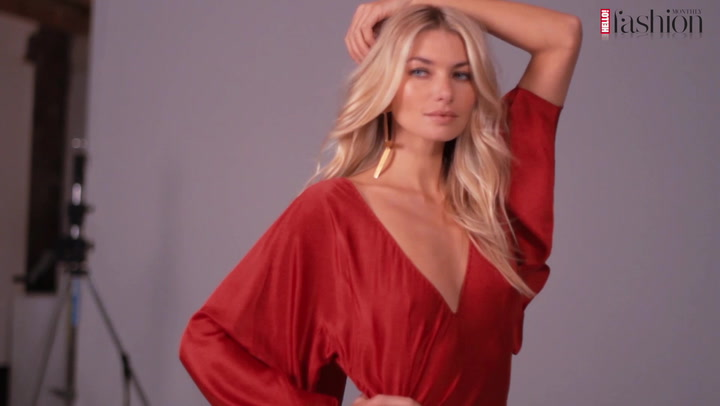 Aussie catwalk star Jessica Hart models for #HFM\'s January cover