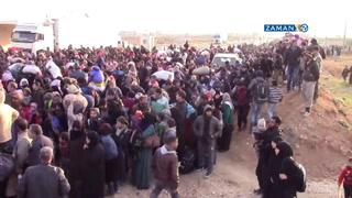 Halep'ten kaçan Suriyeliler Türkiye sınırına ilerliyor