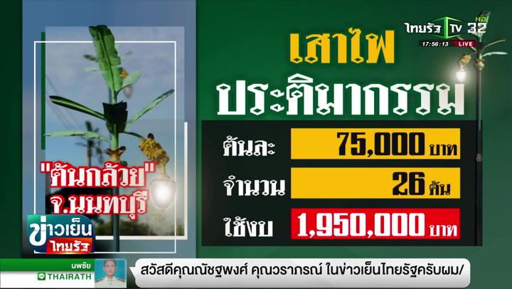 เสาไฟต้นกล้วย จ.นนทบุรี ราคาต้นละกว่า 7 หมื่นบาท