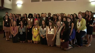 Spring 2013 Garnet and Gold Scholar Society induction ceremony