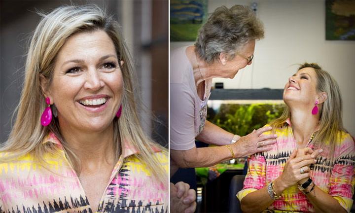 Máxima de Holanda vuelve a sonreír tras la muerte de su padre