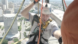 Jumping Off Reunion Tower for Addiction Awareness