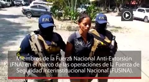 Capturan a mujer por supuesta extorsión en La Lima