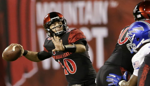 Aztecs QB Christian Chapman: 'Our goal is to go undefeated'