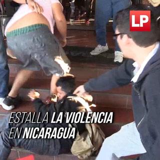 Gases, piedras y sangre corrió en las violentas protestas en Nicaragua