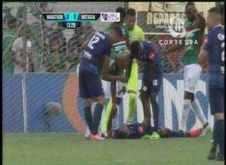 ALARMA: Eddie Hernández se lesiona en partido contra Marathón