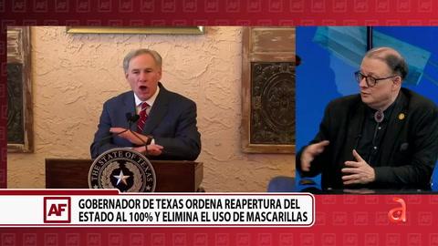 Gobernador de Texas ordena reapertura del estado al 100% y elimina el uso de mascarillas