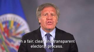 La salida a la crisis en Nicaragua debe ser electoral: Almagro