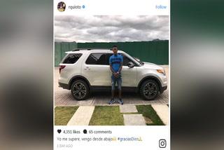 Romell Quioto publica foto junto a su auto y causa controversia