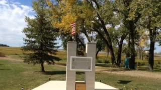The 9-11 Historic Monument at Graf Park on the west edge of Medina commemorates the men and women who lost their lives in the attacks on the World Trade Center on Sept. 11; 2001. It includes a piece of the a beam from the buildings. The monument was dedicated Sunday. Keith Norman / The Sun