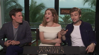 The Cast of Pride and Prejudice and Zombies Plays Six Degrees of Separation