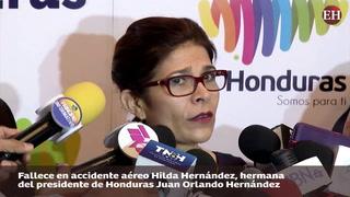 Muere en accidente aéreo Hilda Hernández, hermana de JOH