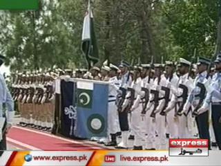 وزیراعظم ہاؤس میں عمران خان کو گارڈ آف آنرپیش کیا گیا
